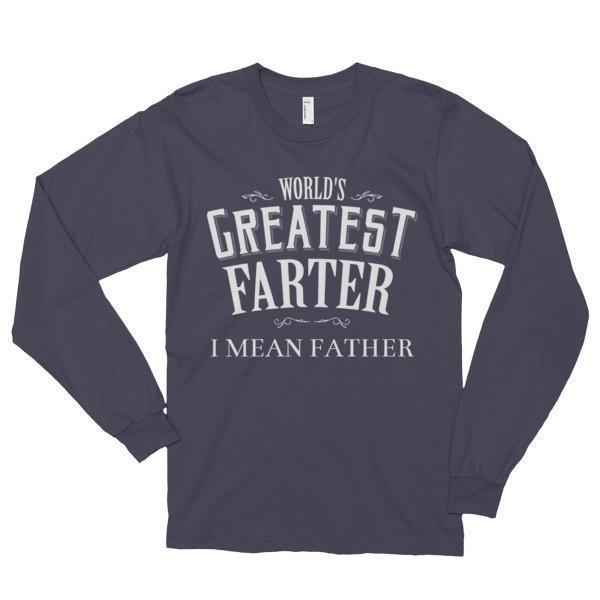 World's Greatest Farter , I mean father (unisex) TShirt-T-Shirt-BelDisegno-Asphalt-S-BelDisegno