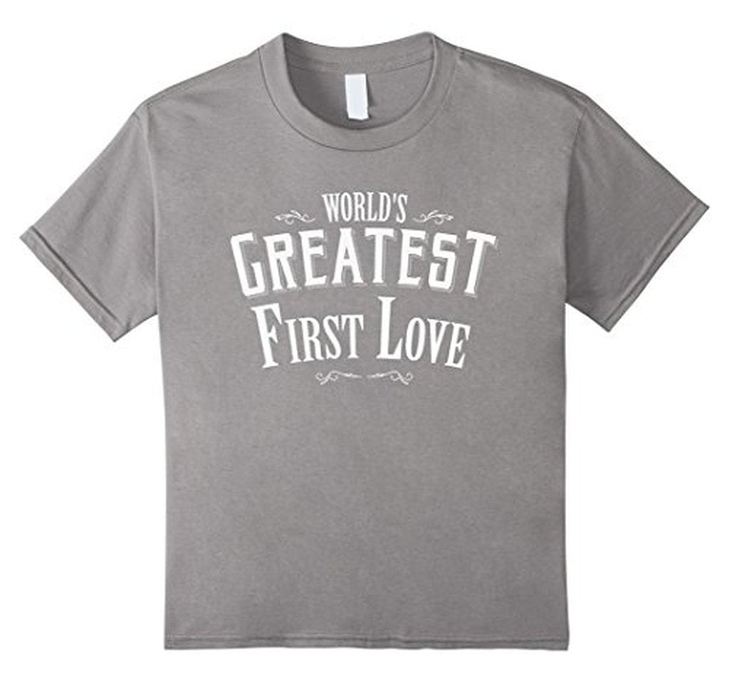 World's Greatest first Love boyfriend or girlfriend TShirt-T-Shirt-BelDisegno-Heather Grey-S-Men-BelDisegno