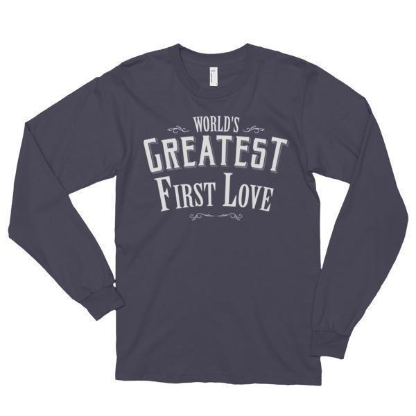 World's Greatest First Love Funny (unisex) TShirt-T-Shirt-BelDisegno-Asphalt-S-BelDisegno