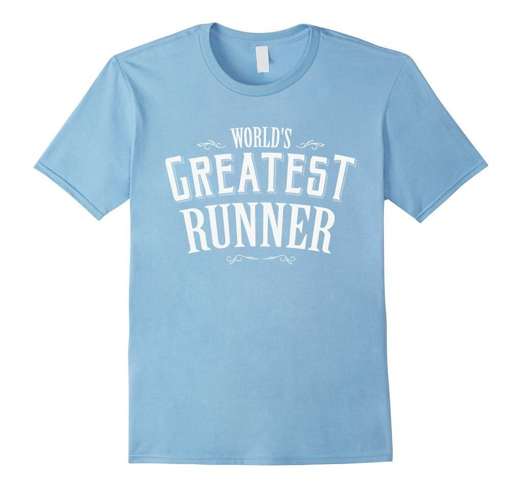 World's Greatest runner World's okayest T-shirt Baby Blue / 3XL T-Shirt BelDisegno
