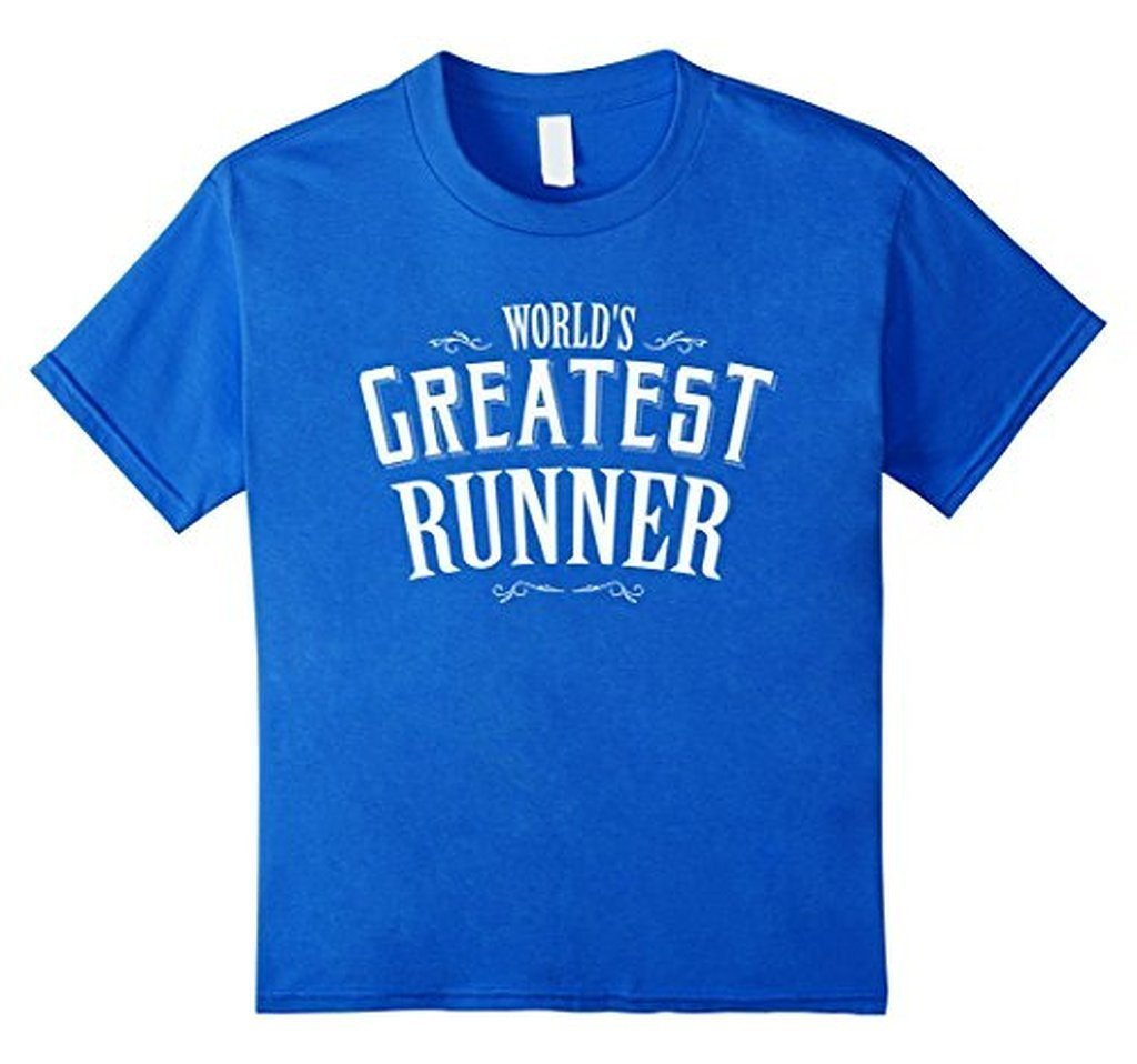 World's Greatest runner World's okayest T-shirt Royal Blue / 3XL T-Shirt BelDisegno