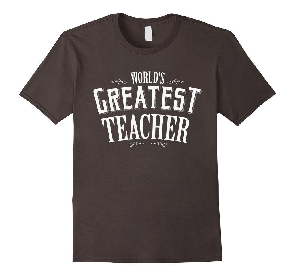 World's Greatest Teacher Black navy Teacher T T-shirt Asphalt / 3XL T-Shirt BelDisegno