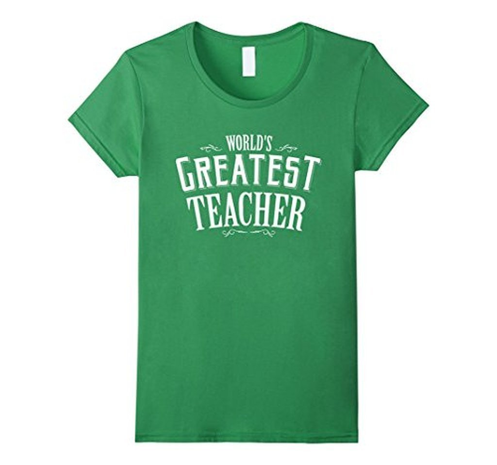 World's Greatest Teacher Black navy Teacher T T-shirt Grass / 3XL T-Shirt BelDisegno