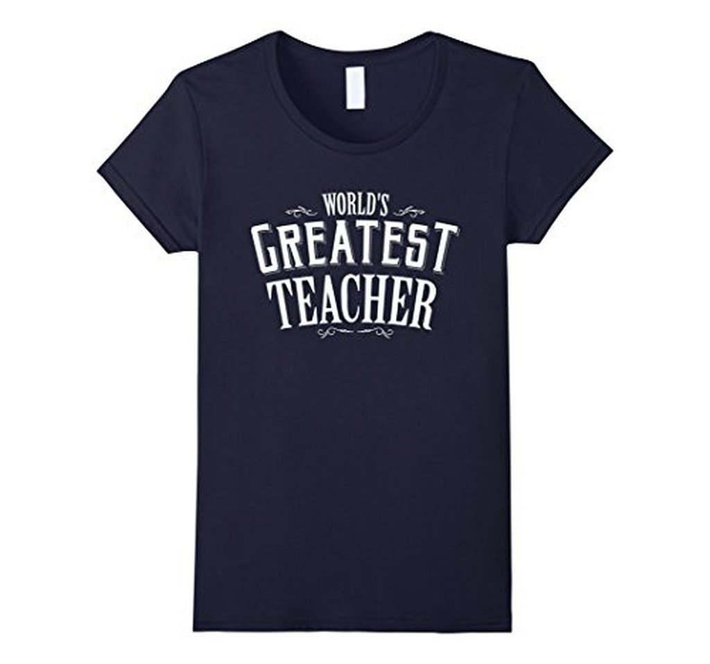 World's Greatest Teacher Black navy Teacher T T-shirt Navy / 3XL T-Shirt BelDisegno