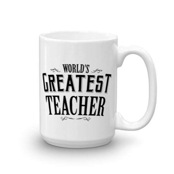 World's Greatest Teacher Coffee Mug 15oz Mug BelDisegno