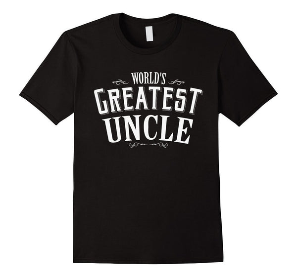 World's Greatest Uncle Funny T-shirt Black / 3XL T-Shirt BelDisegno