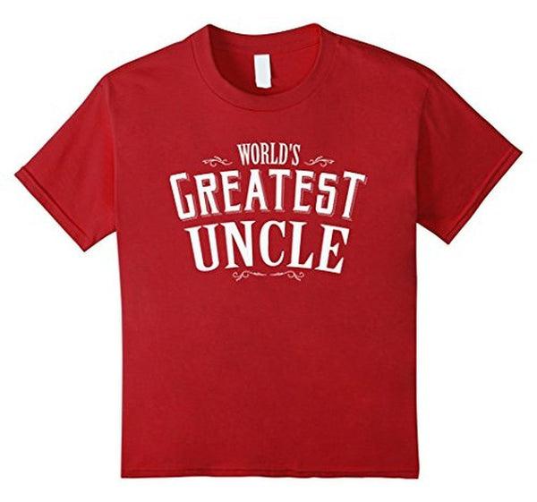 World's Greatest Uncle Funny T-shirt Cranberry / 3XL T-Shirt BelDisegno
