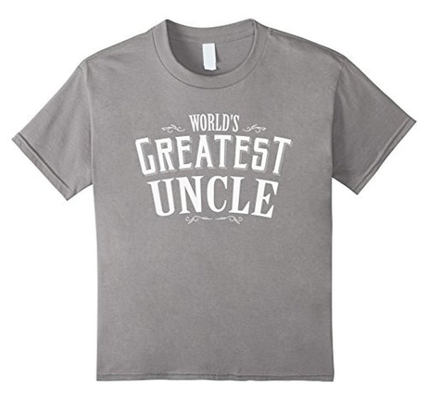 World's Greatest Uncle Funny T-shirt Heather Grey / 3XL T-Shirt BelDisegno