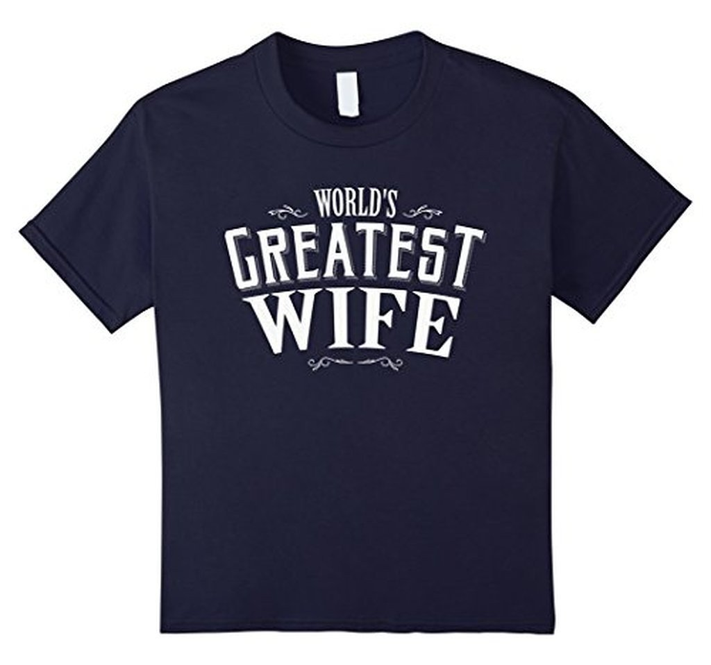 World's Greatest Wife romantic t for the Mrs T-shirt Navy / XL T-Shirt BelDisegno