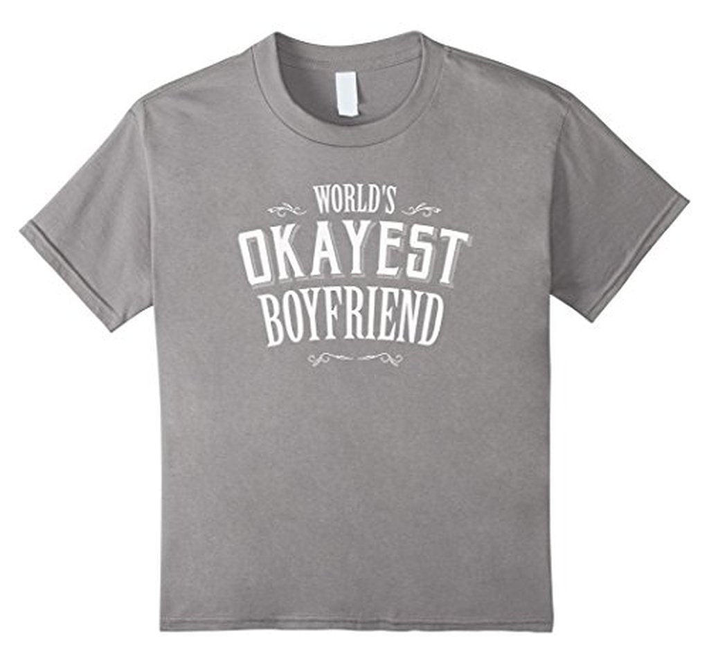 World's Okayest Boyfriend romantic t for him T TShirt-T-Shirt-BelDisegno-Heather Grey-S-BelDisegno