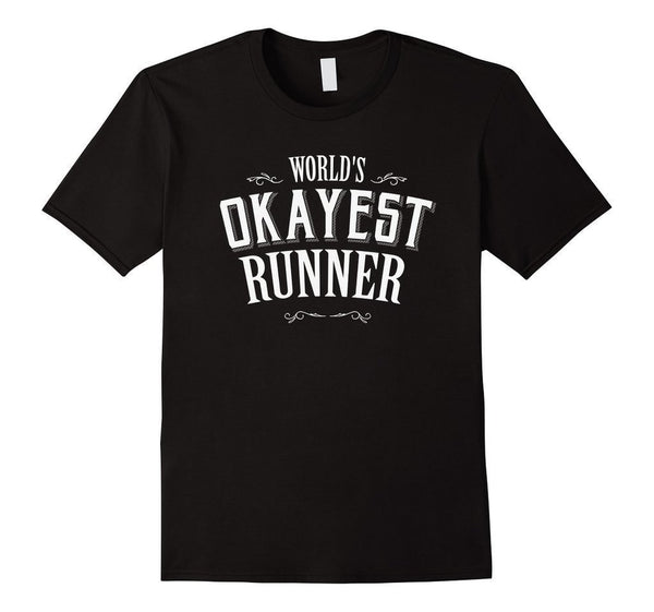 World's okayest runner World's okayest TShirt-T-Shirt-BelDisegno-Black-S-BelDisegno