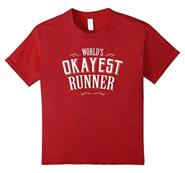 World's okayest runner World's okayest TShirt-T-Shirt-BelDisegno-Cranberry-S-BelDisegno