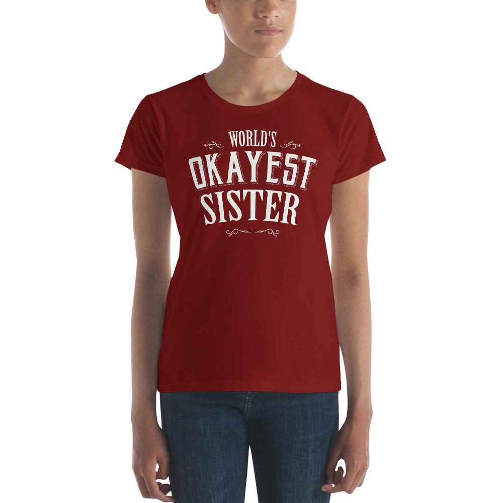 world's okayest sister s TShirt-T-Shirt-BelDisegno-Independence Red-S-BelDisegno