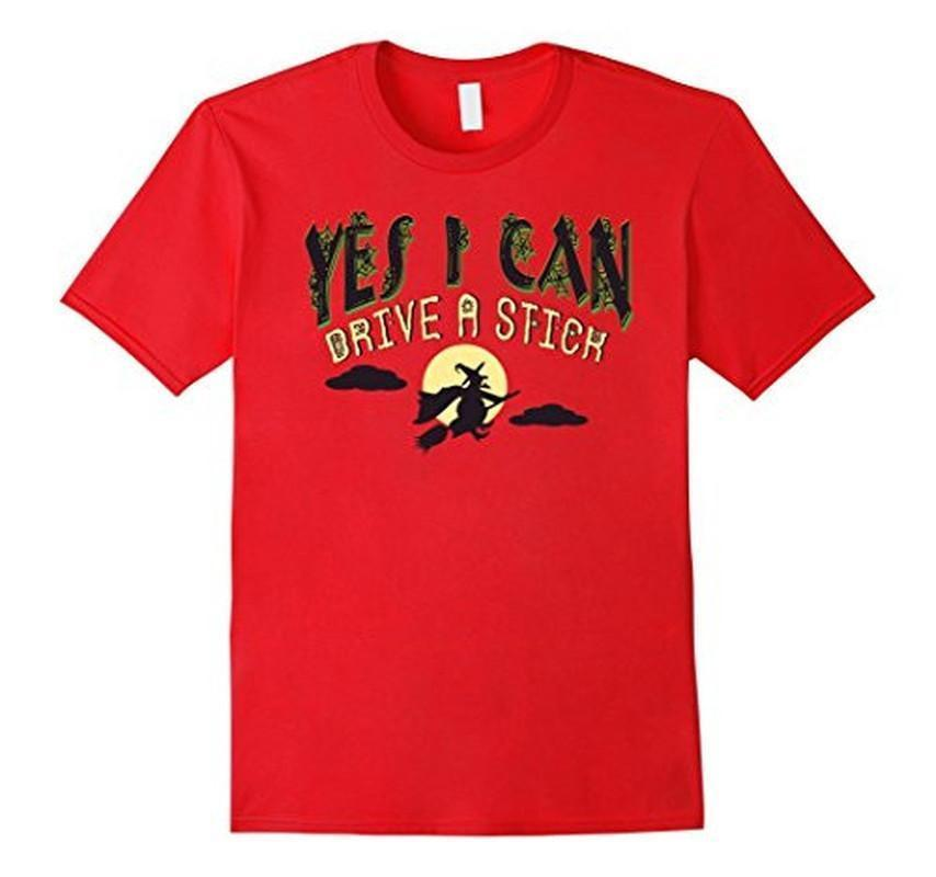 Yes I can Drive a Stick Halloween TShirt-T-Shirt-BelDisegno-Red-S-BelDisegno