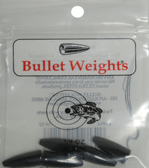 Bullet Weights Black Worm Weight - Dogfish Tackle & Marine