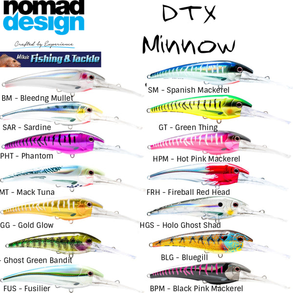 Nomad DTX Minnow 140mm - 165mm