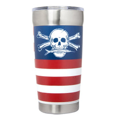 Calcutta  Red, White & Blue Powder Coated Traveler - 20oz (Limited Edition) - Dogfish Tackle & Marine