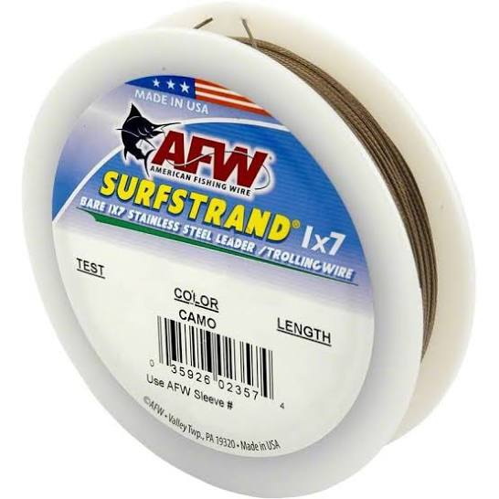 AFW Surfstrand 1x7 Stainless Steel Leader 300ft Cable