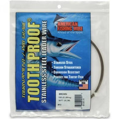 AFW Tooth Proof Stainless Steel Leader Wire 30ft - Dogfish Tackle & Marine