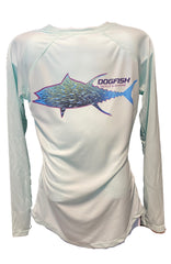 Dogfish Ladies Tuna Bait ball UPF LS Seafoam - Dogfish Tackle & Marine