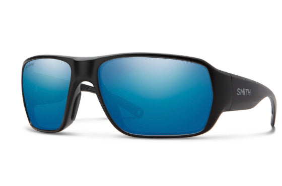 Smith Castaway Matte Black /Polarized Blue Mirror