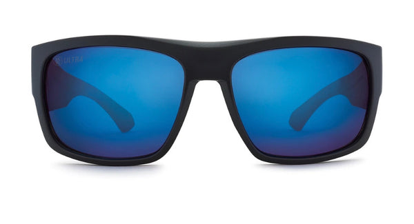 Kaenon Burnet FC Polarized Sunglasses Matte Black / Pacific Blue Mirror