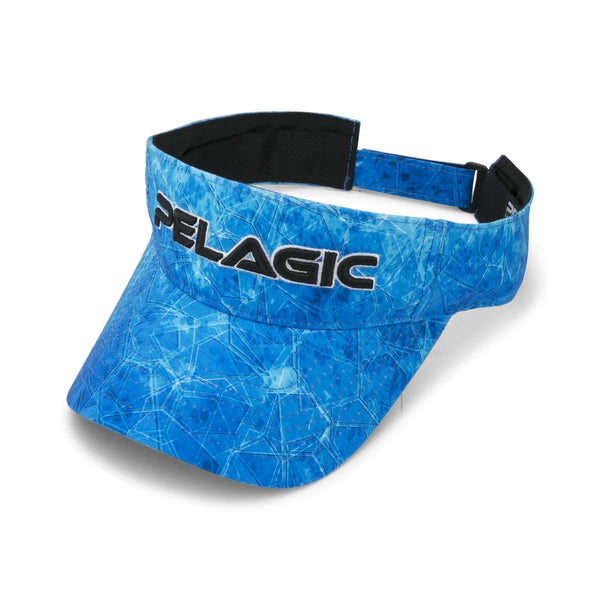 Pelagic Performance Visor-Dorado Hex Blue