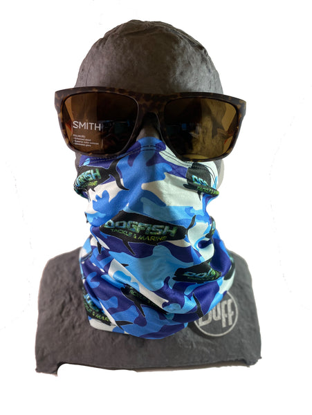 Dogfish Face Mask Blue Camo