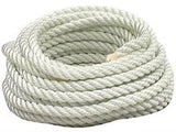 White 3 Strand Nylon Anchor Rope / Dock Line
