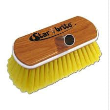 Starbrite Soft Wooden Block Brush With Bumper (Yellow) - #40170
