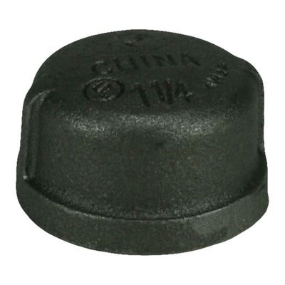 "1-1/4"" Black Iron Cap"