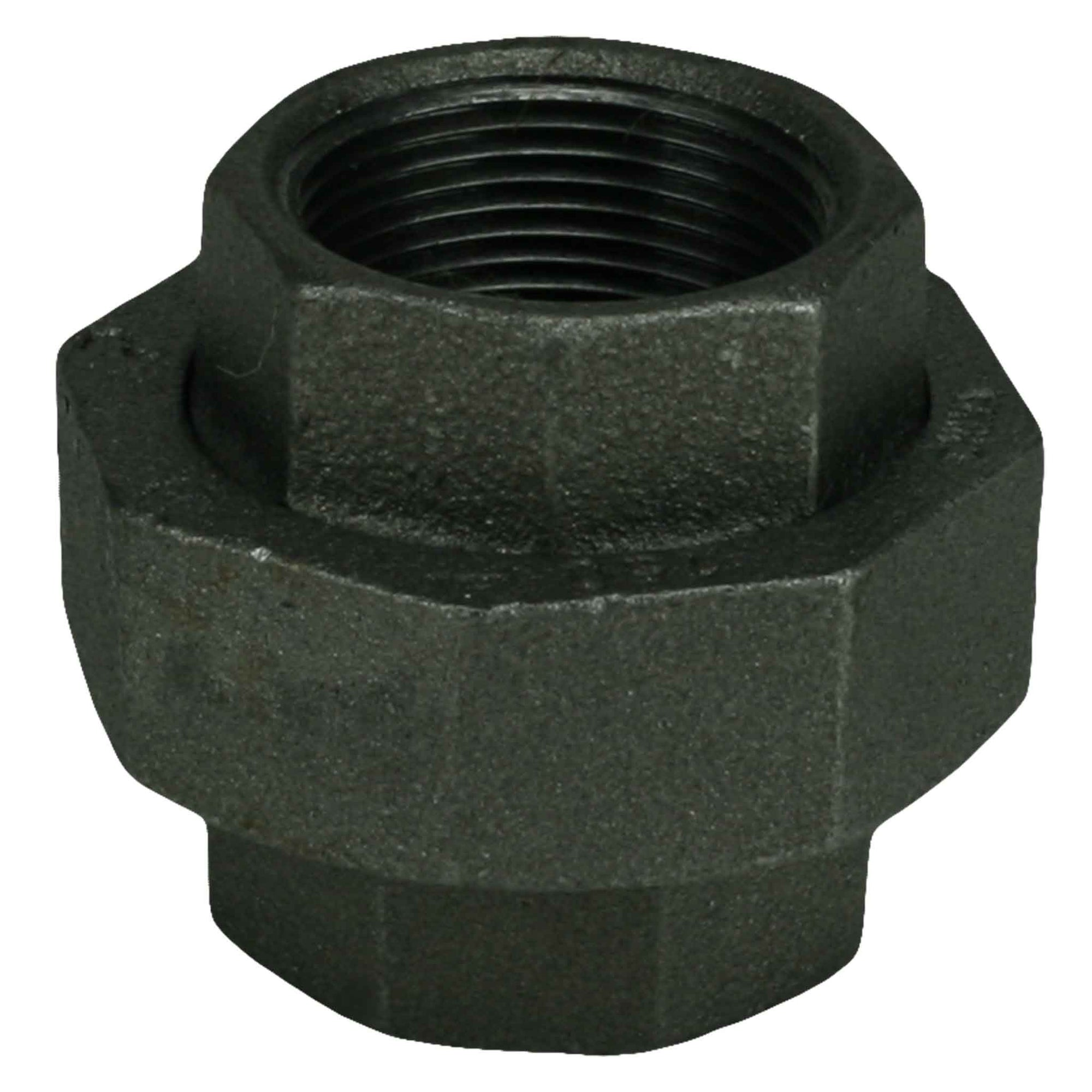 "1-1/4"" Black Iron Union"