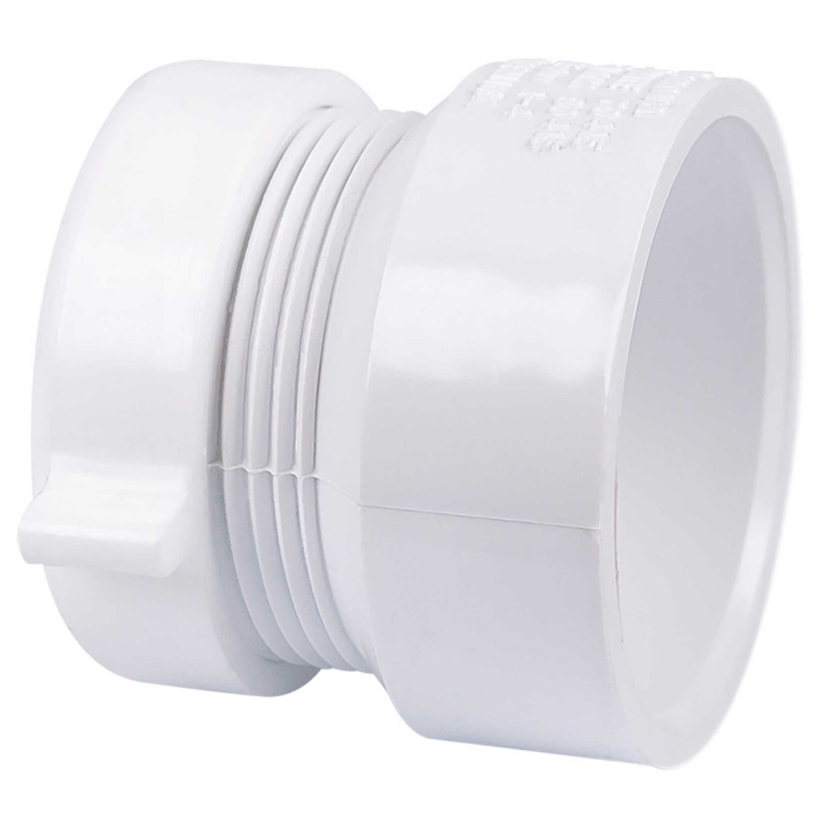 Schedule 40 PVC DWV Trap Adapter - Female with Plastic Nut