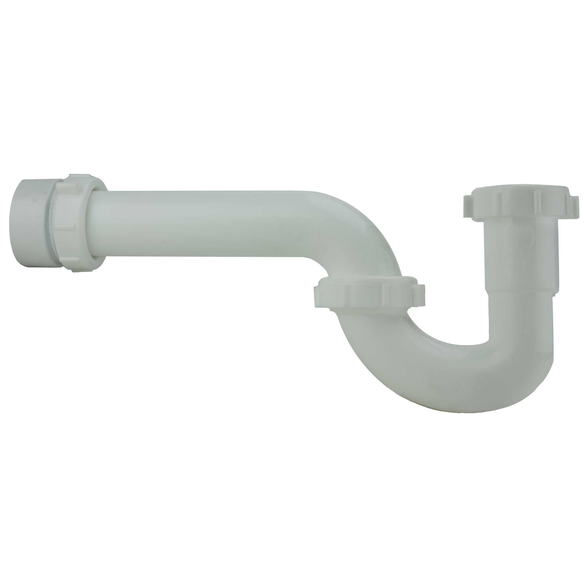 1 1 2 White P Trap W Pvc Adapter Wood Plumbing Supply