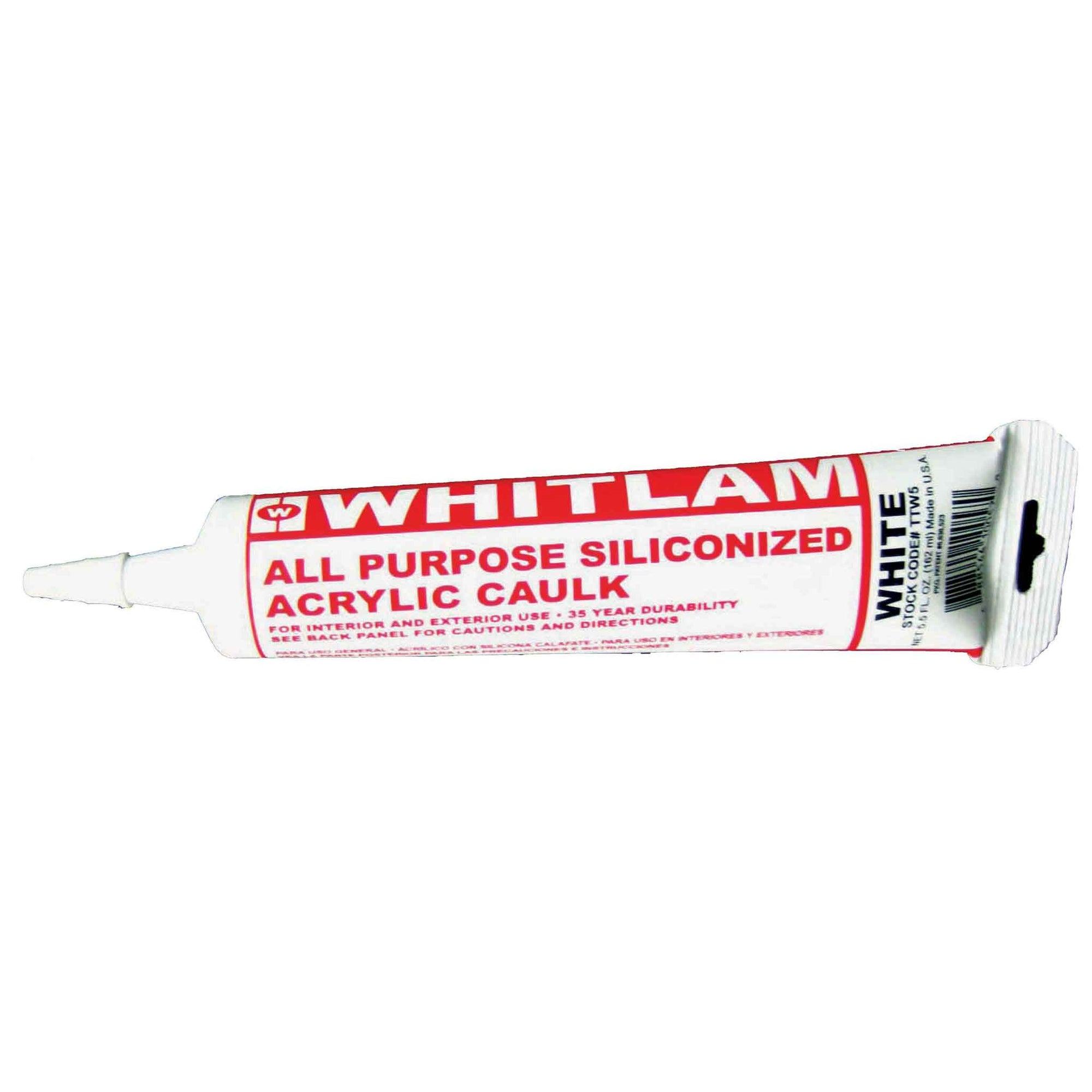ALL PURPOSE WHITE SILICONIZED ACRYLIC CAULK