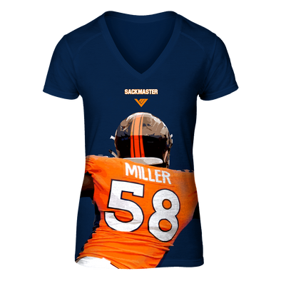 "Von Miller Official Ladies ""Sack Master"" Performance V-Neck Tee S/S"