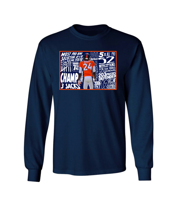 Champ Bailey Official '19 H.O.F. Limited Edition Stats Tee L/S