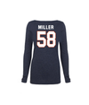 Von Miller Official Ladies Name & Number Scoop Neck Tri-blend Tee L/S
