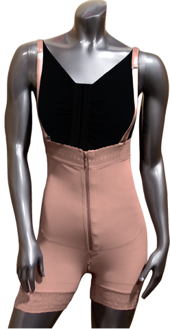 102 HIGH COMPRESSION GIRDLE MID THIGH WITH FRONTAL AND PELVIC ZIPPER.