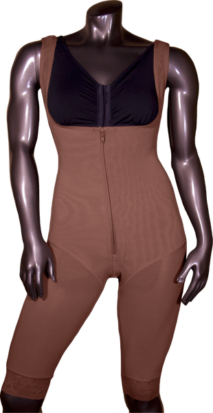108Z HIGH COMPRESSION GIRDLE ABOVE THE KNEE WITH FRONTAL ZIPPER. - BODY SHAPE TECH