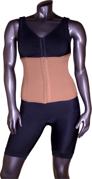 115 HIGH COMPRESSION WAIST TRAINER WITH FRONTAL HOOKS. - BODY SHAPE TECH