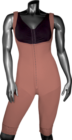 128C HIGH COMPRESSION GIRDLE ABOVE THE KNEE WITH FRONTAL HOOKS AND PELVIC ZIPPER. - BODY SHAPE TECH