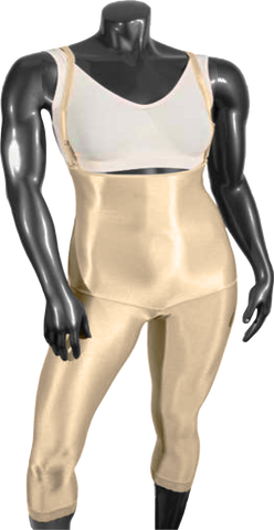 237 LOW COMPRESSION GIRDLE BELOW THE KNEE WITH LATERAL ZIPPER AND ADJUSTABLE SHOULDER STRAPS. - BODY SHAPE TECH