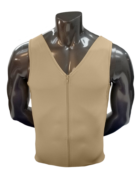 401 HIGH COMPRESSION VEST WITH FRONTAL ZIPPER.