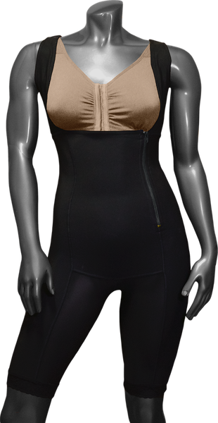 744B HIGH COMPRESSION GIRDLE ABOVE THE KNEE WITH LATERAL ZIPPER.
