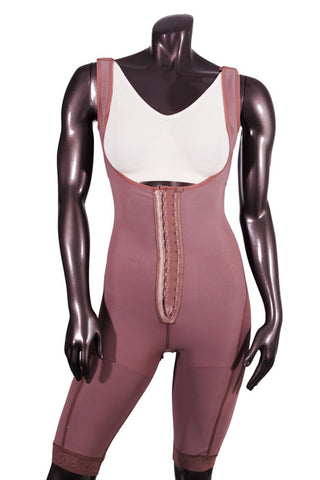 High Compression Above the Knee Lined Girdle with Hooks - BODY SHAPE TECH