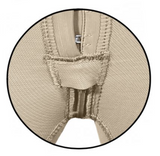 130Z HIGH COMPRESSION GIRDLE MID THIGH WITH FRONTAL HOOKS AND PELVIC ZIPPER.