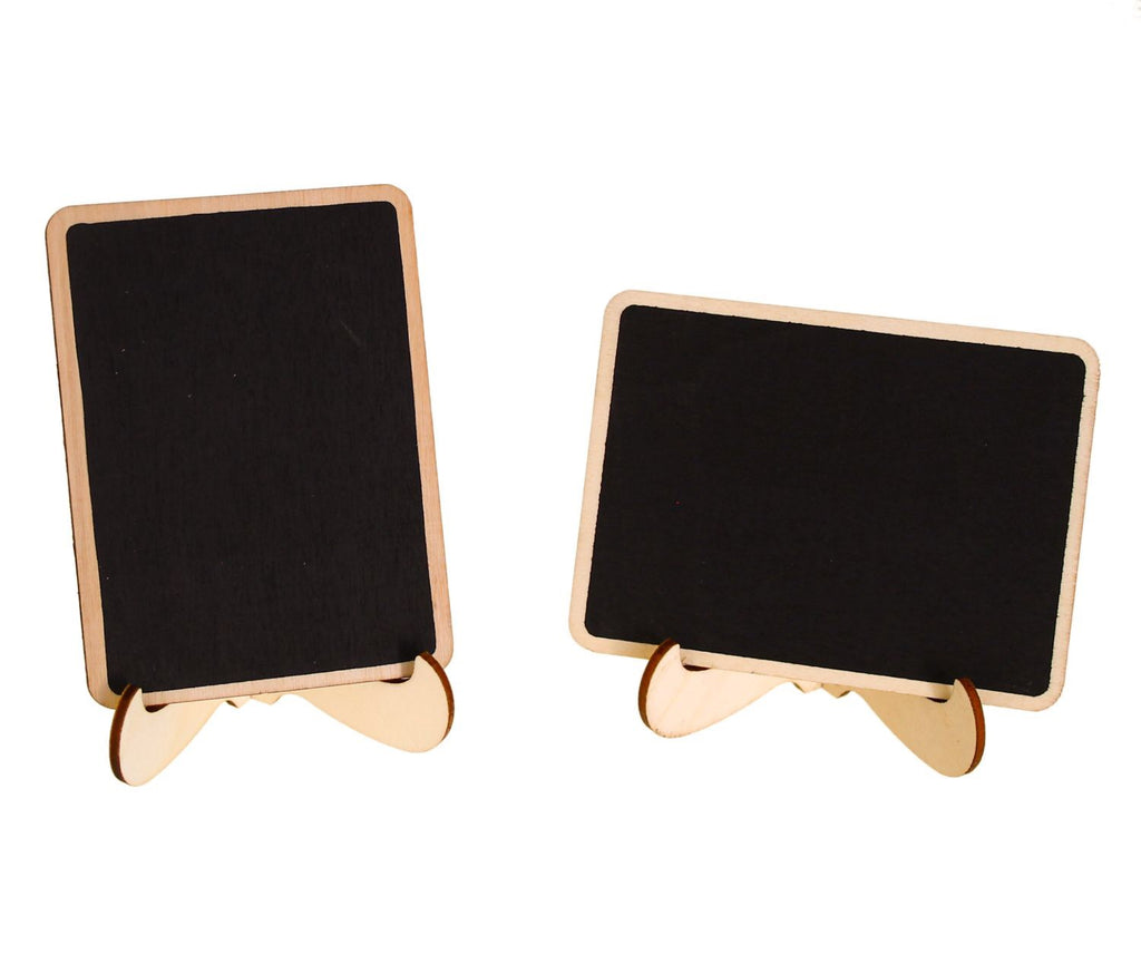 New Mini Chalkboards Place Cards with Easel and Chalk – CB Accessories OI72