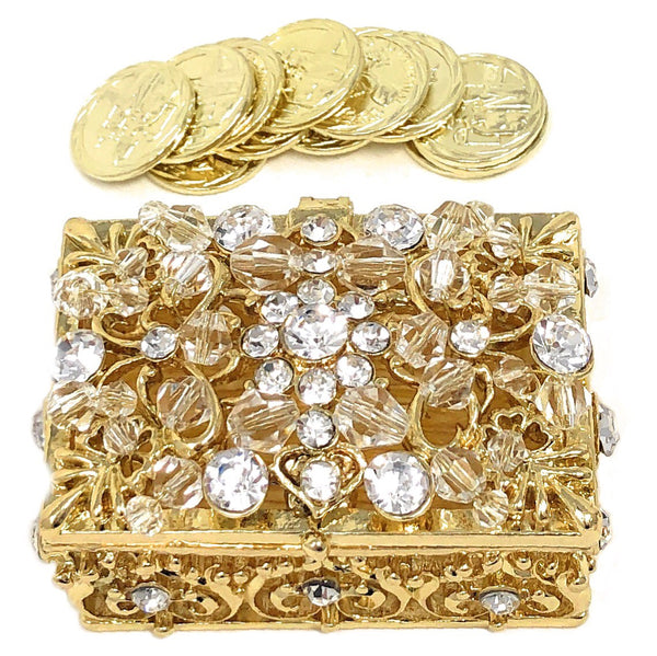 Wedding Unity Coins - Arras de Boda - Decorative Box with Crystals