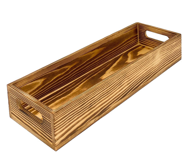 Decorative Wood Serving Tray 15 inch Long for Rustic Kitchen and Farmhouse Home Decoration